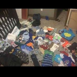 Lot of boys clothes 0-12months